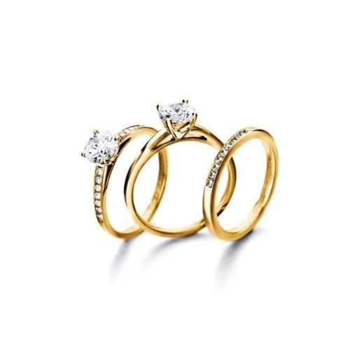Rock Lobster Jewellery Ring Furrer Jacot 18ct yellow gold single diamond 0.30ct ring