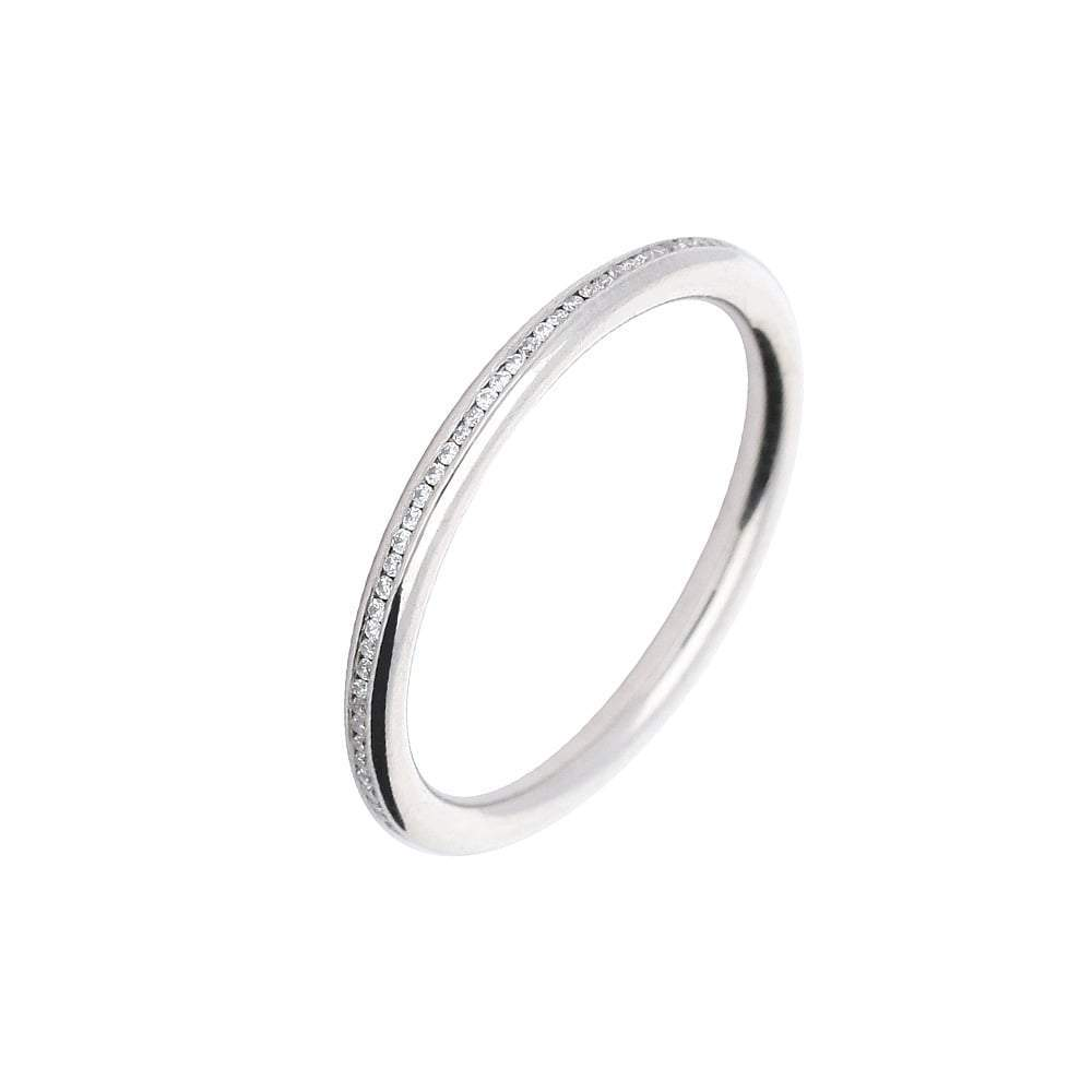Rock Lobster Jewellery Ring James Newman palladium diamond full eternity ring