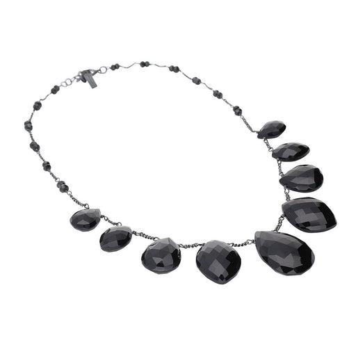 Rock Lobster Jewellery Necklace Oxidised Silver and black onyx teardrop necklace