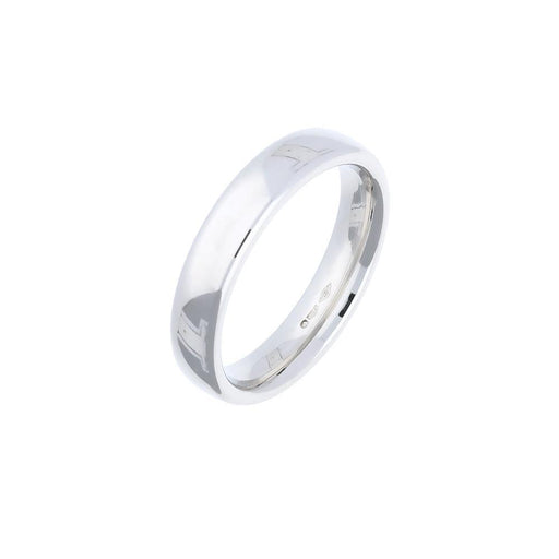 Rock Lobster Jewellery Ring Platinum 4mm plain court band