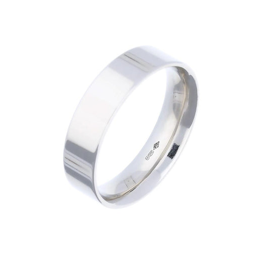 Rock Lobster Jewellery Ring Platinum 6mm flat court band
