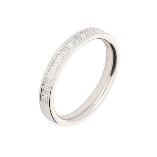 Rock Lobster Jewellery Ring Platinum baguette Diamond half eternity ring