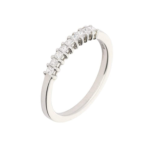 Rock Lobster Jewellery Ring Platinum princess diamond half eternity
