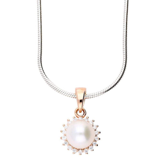 Rock Lobster Jewellery Neckwear Rose gold and white pearl pendant