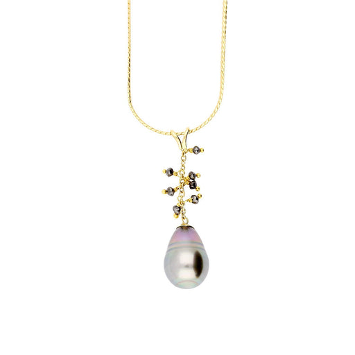 Rock Lobster Jewellery Neckwear Tahitian pearl and black diamond pendant