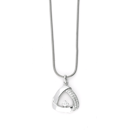 Rock Lobster Jewellery Pendant White gold open triangular shaped pendant with diamonds