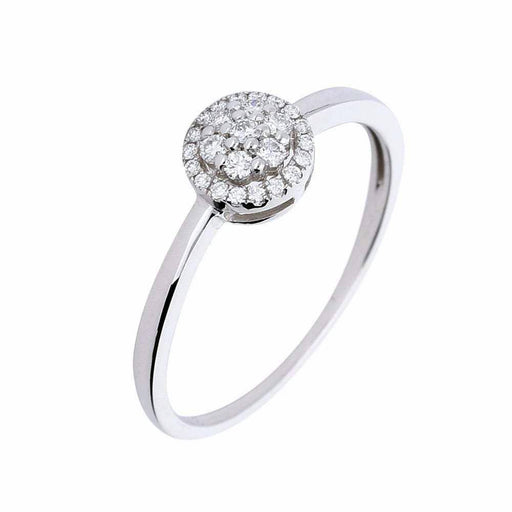 Rock Lobster Ring Manhatton 9ct white gold diamond halo ring