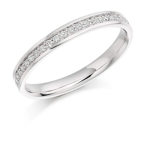 Rock Lobster Ring Platinum 0.17 grain set Diamond 1/2 eternity band