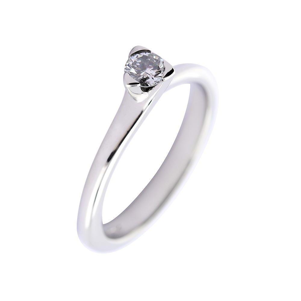 Rock Lobster Ring Platinum 0.20ct brilliant Diamond three claw ring