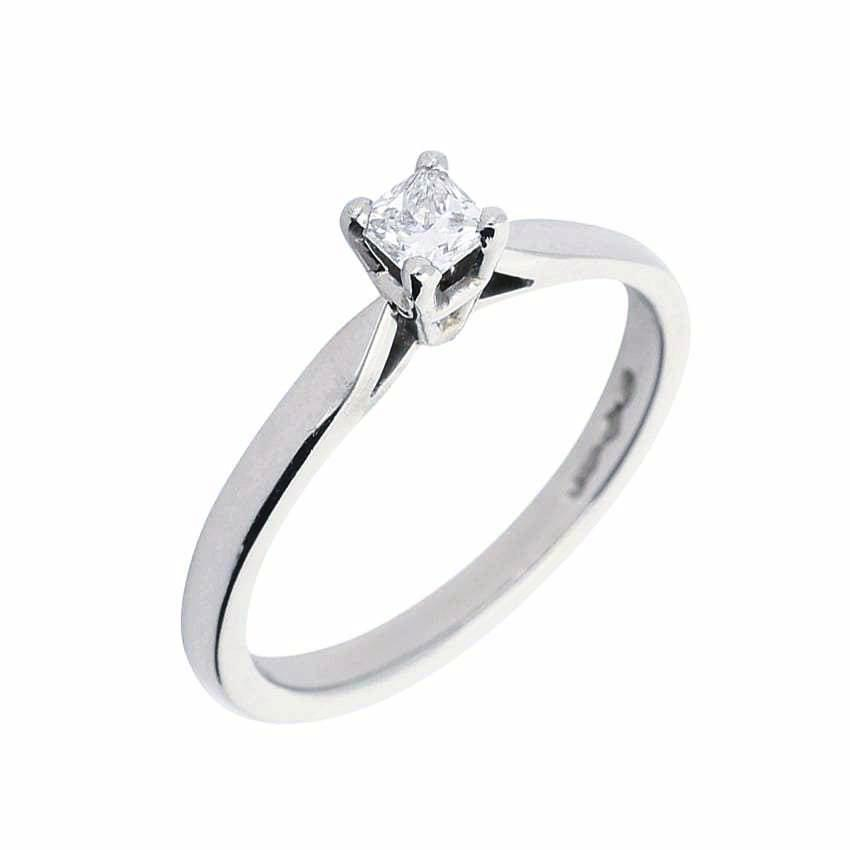 Rock Lobster Ring Platinum 0.20ct princess diamond solitaire ring