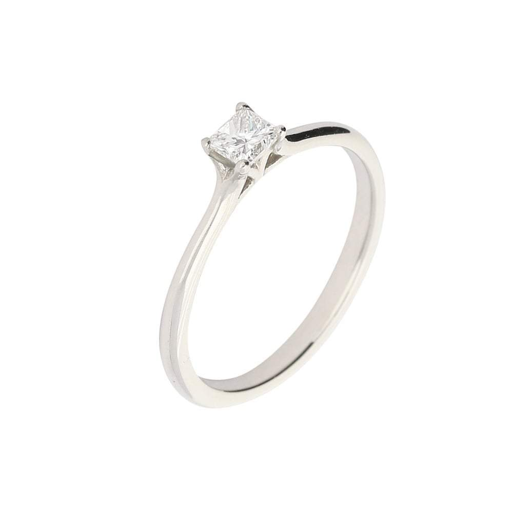 Rock Lobster Ring Platinum 0.25ct princess cut diamond ring