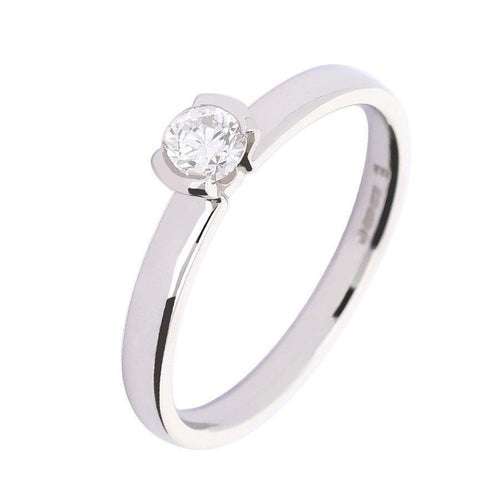 Rock Lobster Ring Platinum 0.28ct brilliant cut diamond ring