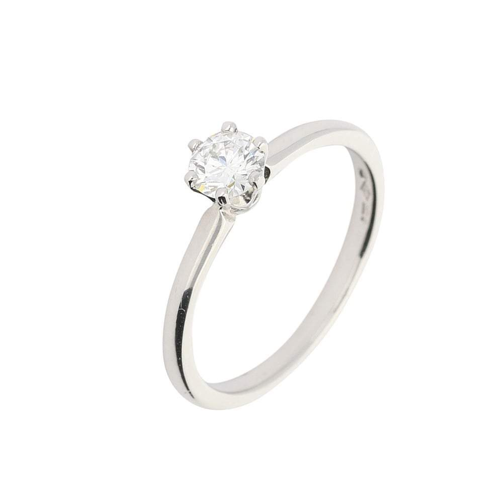 Rock Lobster Ring Platinum 0.36ct diamond six claw solitaire ring