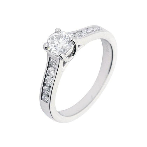 Rock Lobster Ring Platinum 0.50ct diamond shoulder set ring