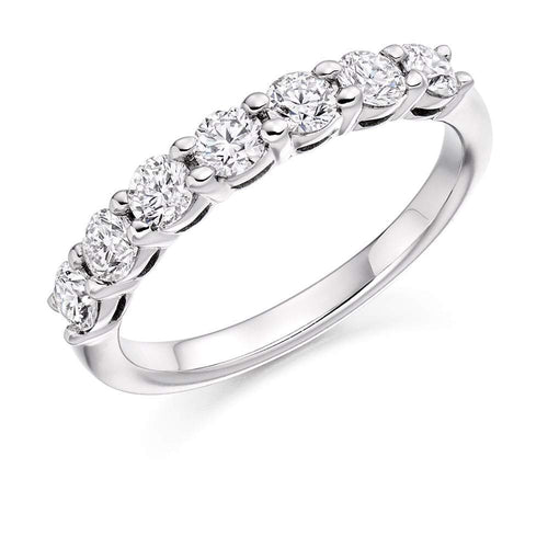 Rock Lobster Ring Platinum 0.75 claw set Diamond 1/2 eternity band