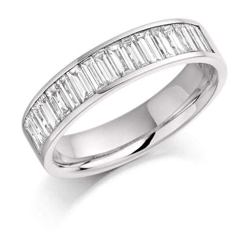 Rock Lobster Ring Platinum 1.00 channel set baguette Diamond 1/2 eternity band