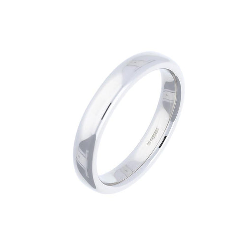 Rock Lobster Ring Platinum 4mm court wedding band