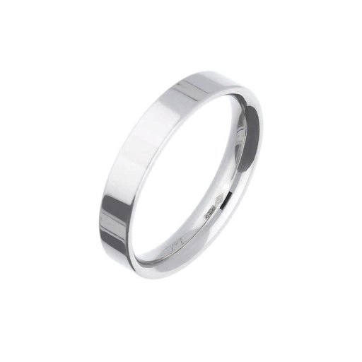 Rock Lobster Ring Platinum 4mm flat wedding band