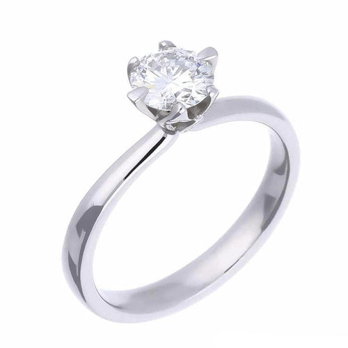 Rock Lobster Ring Platinum 6 claw brilliant cut diamond solitaire