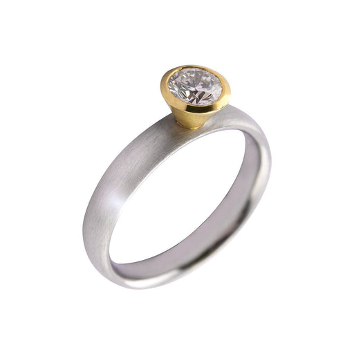 Rock Lobster Ring Platinum and 18ct yellow gold 0.40ct diamond ring