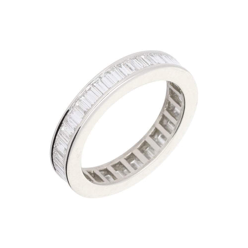 Rock Lobster Ring Platinum baguette cut  diamond full eternity ring