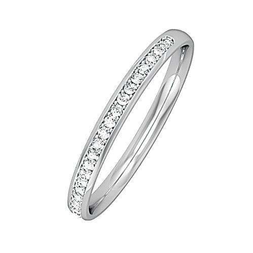 Rock Lobster Ring Platinum brilliant cut 0.09ct diamond half eternity ring