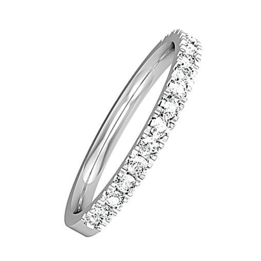 Rock Lobster Ring Platinum brilliant cut diamond half eternity ring