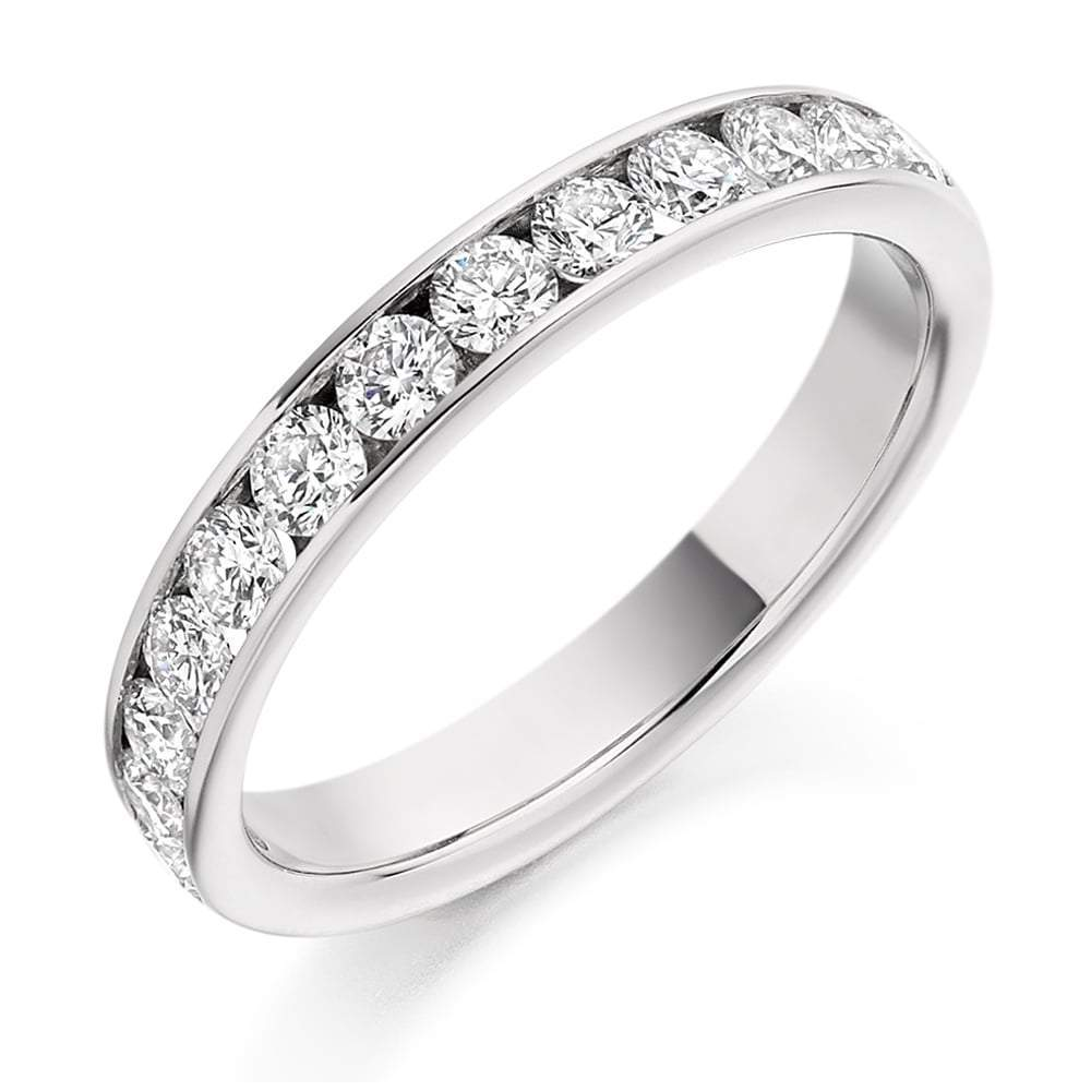 Rock Lobster Ring Platinum channel set 0.75 Diamond 1/2 eternity band