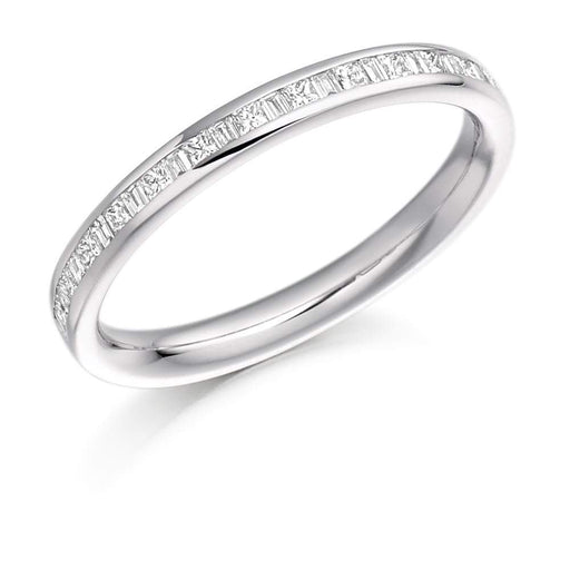 Rock Lobster Ring Platinum channel set mix of Diamonds 0.30 half eternity band