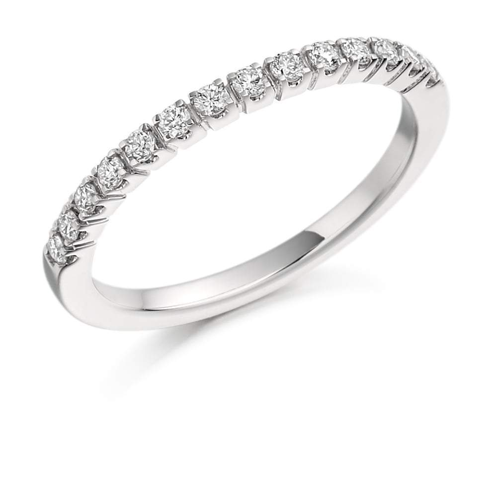 Rock Lobster Ring Platinum claw set 0.25 Diamond half eternity band