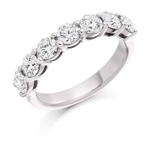 Rock Lobster Ring Platinum claw set 1.50 Diamond 1/2 eternity band