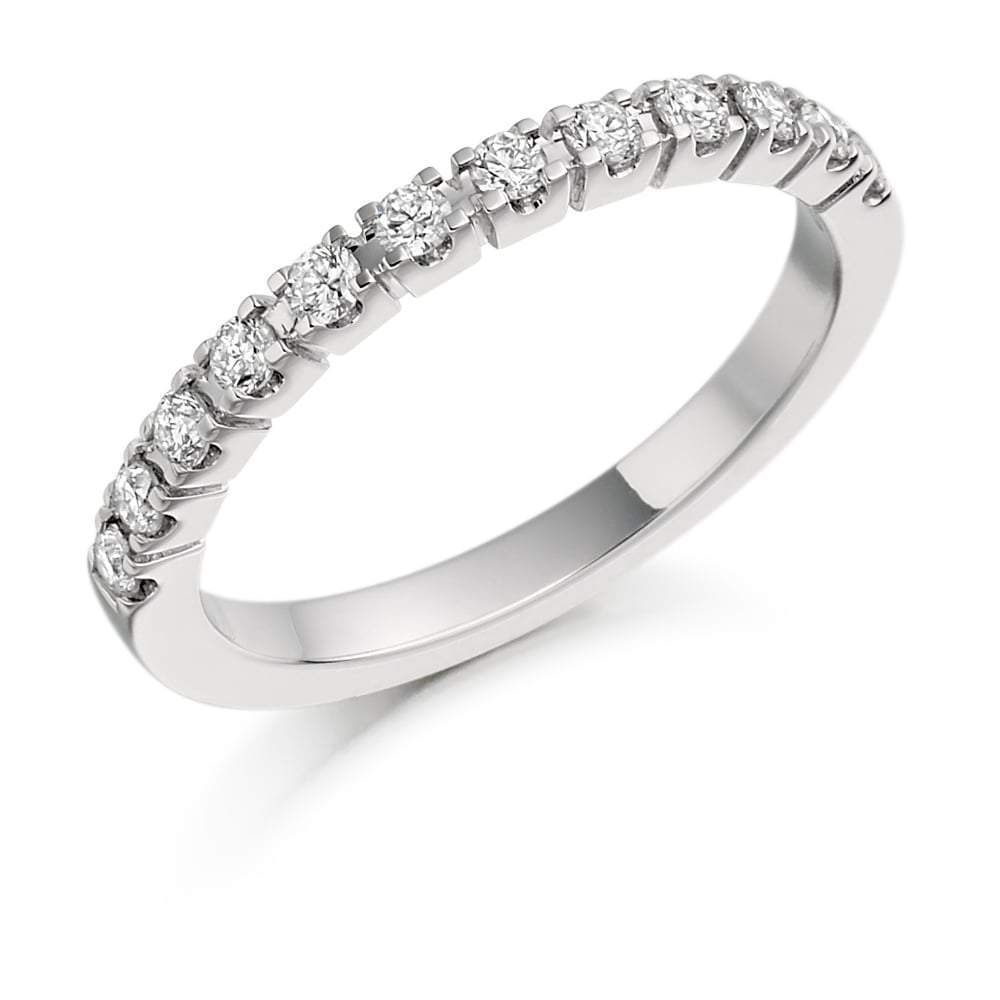 Rock Lobster Ring Platinum claw set brilliant Diamond half eternity band
