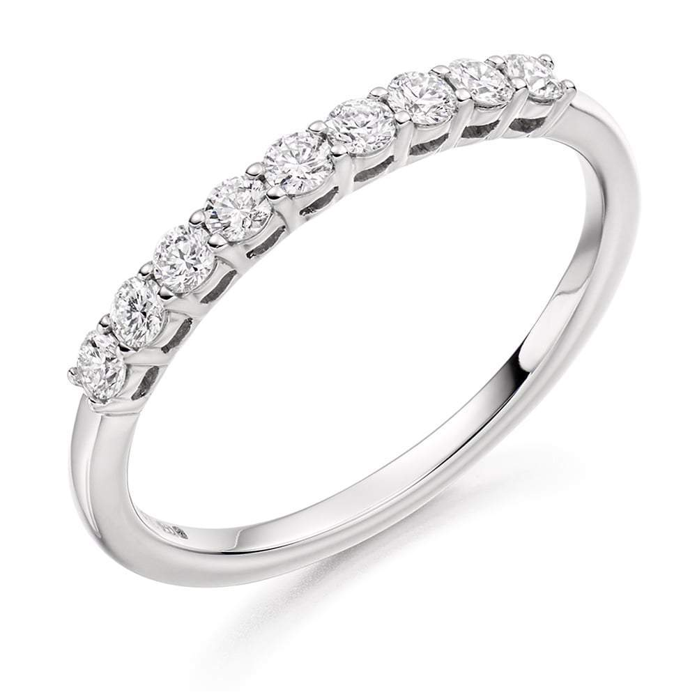 Rock Lobster Ring Platinum claw set Diamond 1/2 eternity band