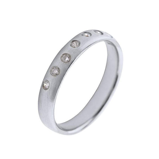 Rock Lobster Ring Platinum eight scattered diamond ring