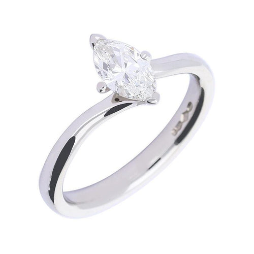 Rock Lobster Ring Platinum marquise cut 0.70ct diamond ring