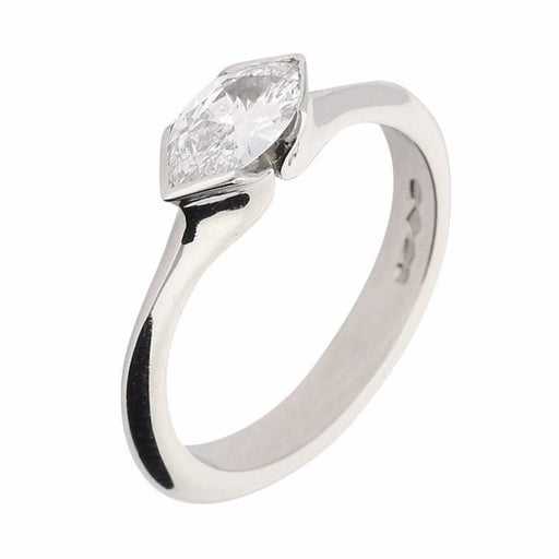 Rock Lobster Ring Platinum marquise diamond ring crossway set