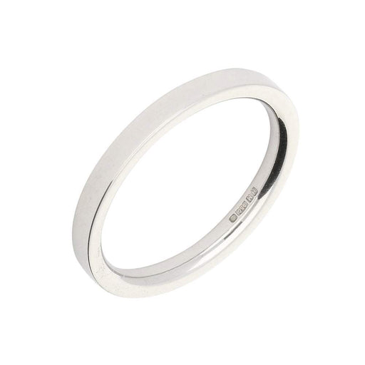 Rock Lobster Ring Platinum medium flat court 2mm band