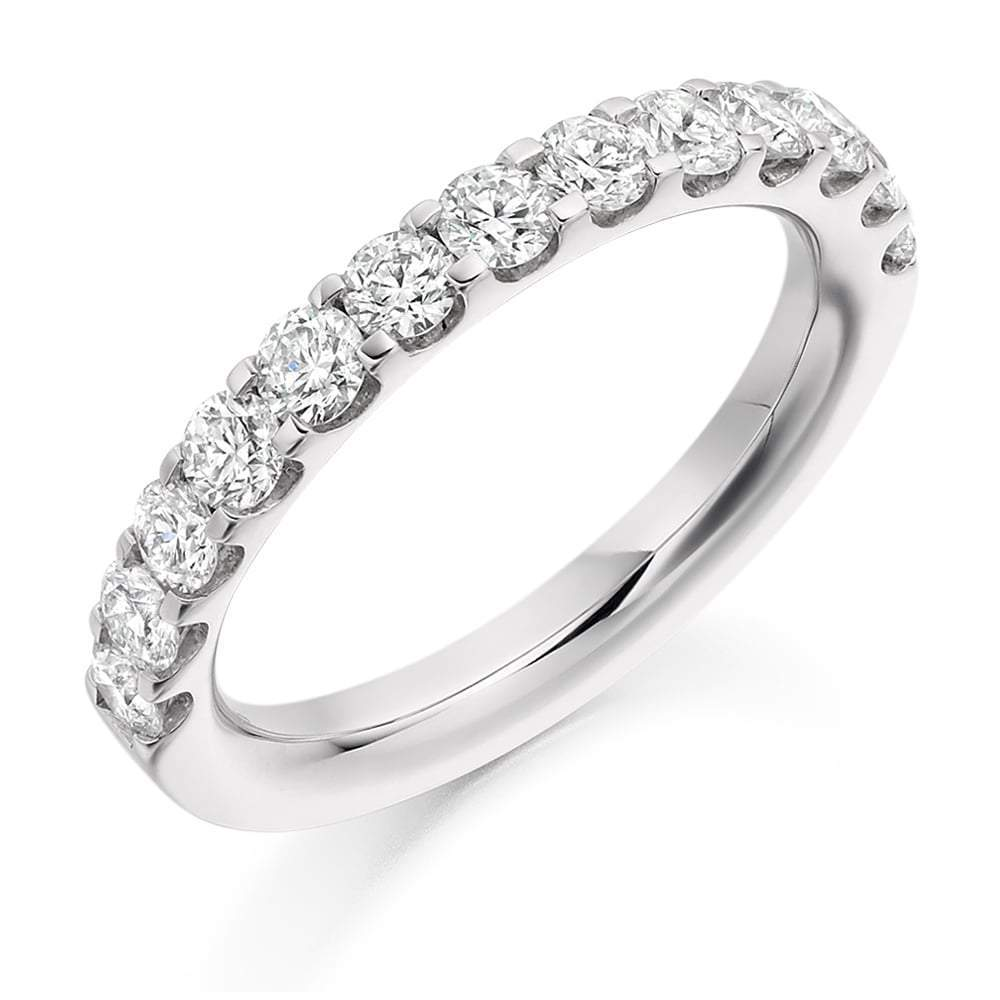 Rock Lobster Ring Platinum micro claw set brilliant 1.00 Diamond 1/2 eternity band
