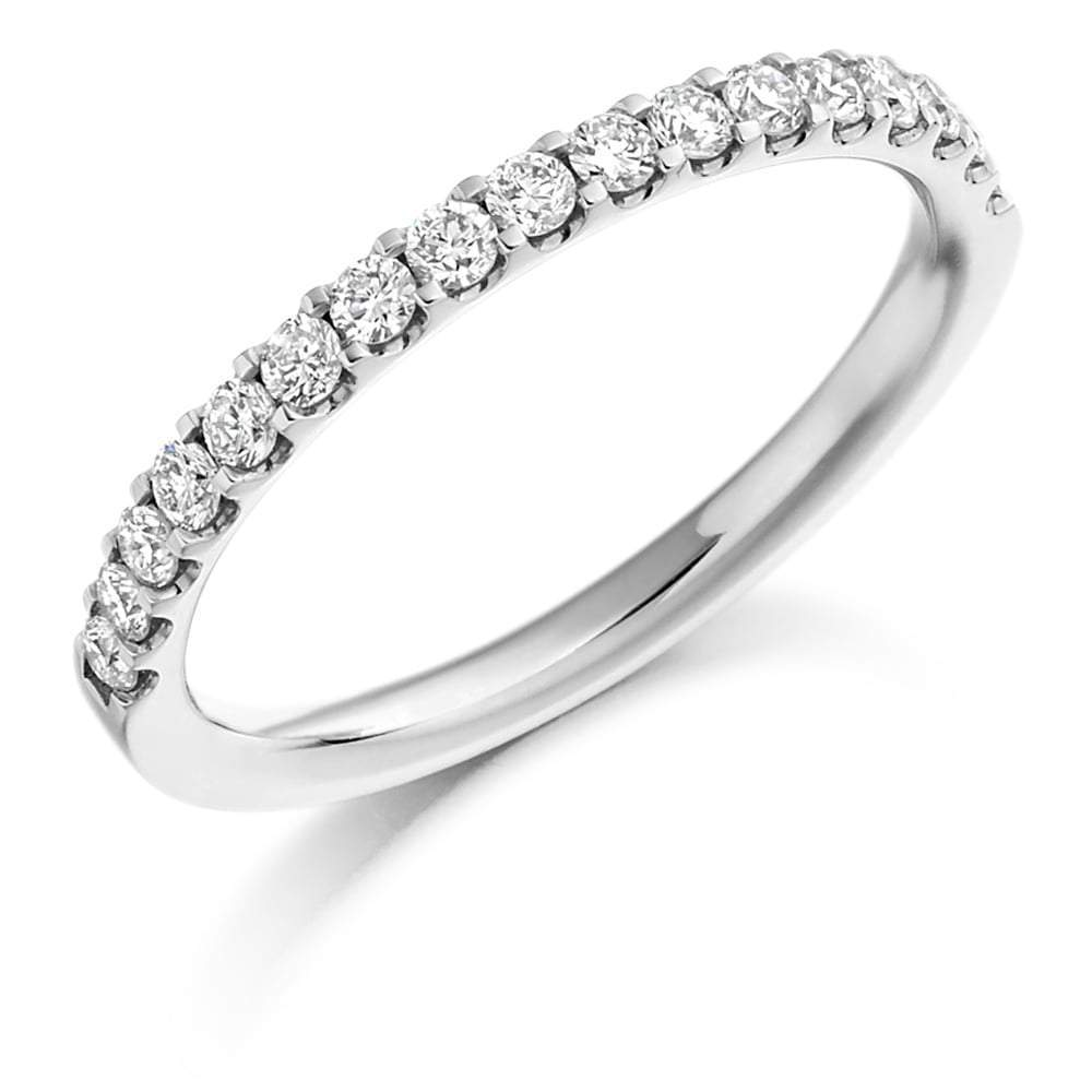Rock Lobster Ring Platinum micro claw set brilliant Diamond 0.33 half eternity band