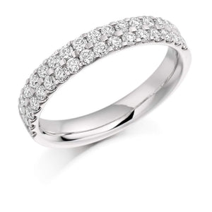 Rock Lobster Ring Platinum micro claw set Diamond 1/2 eternity band