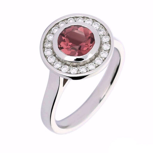 Rock Lobster Ring Platinum pink tourmaline diamond ring
