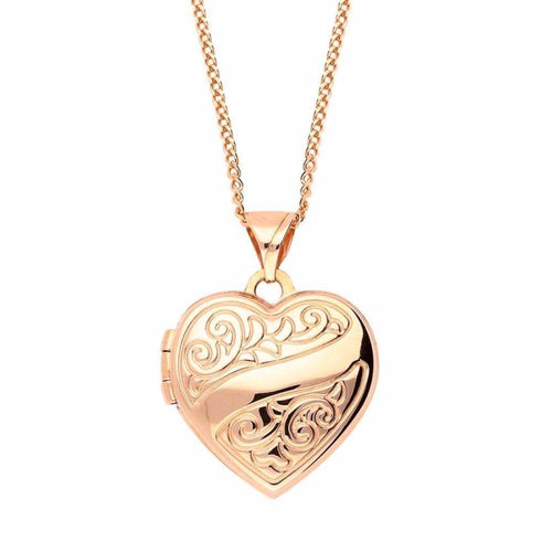 Rock Lobster Locket Rose gold heart locket