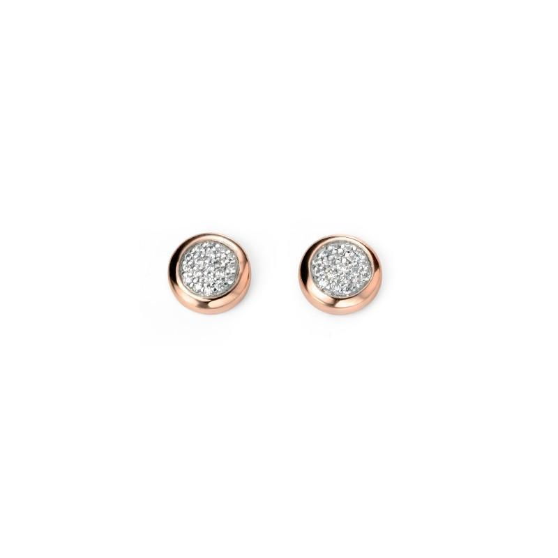 Rock Lobster Earrings Rose gold plated Silver cubic zirconia pave studs