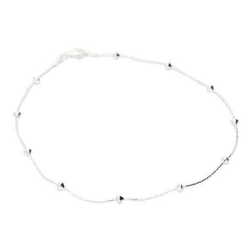 Rock Lobster Chain Silver beaded box link ankle chain