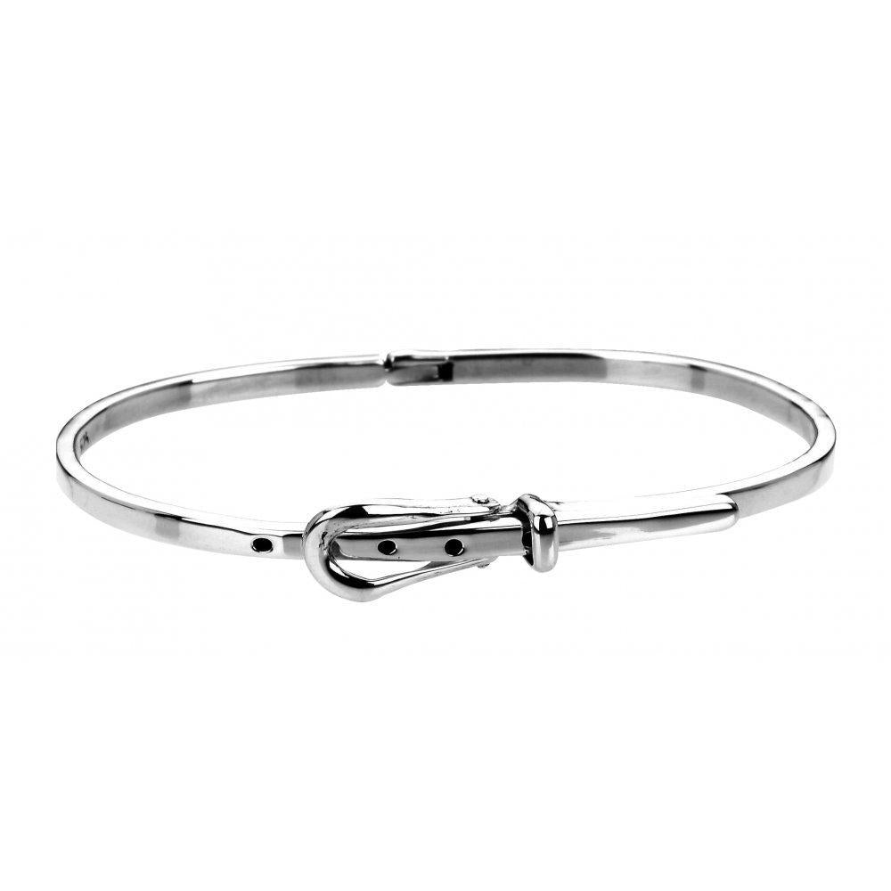 Rock Lobster Bangle Silver belt bracelet