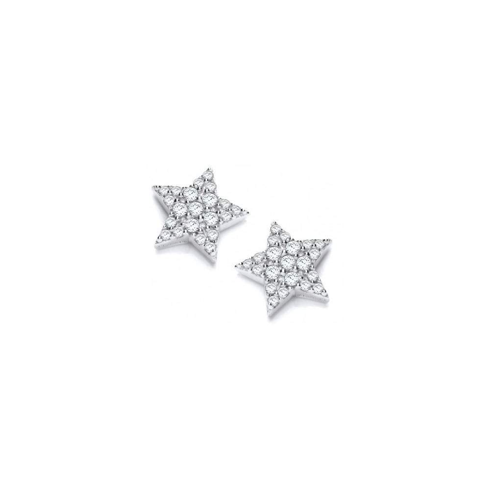 Rock Lobster Earrings Silver cubic zirconia starry night stud earrings
