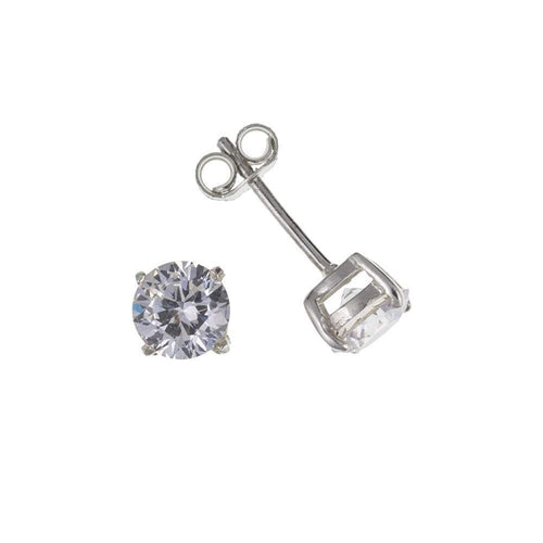 Rock Lobster Earrings Silver CZ 4mm claw studs