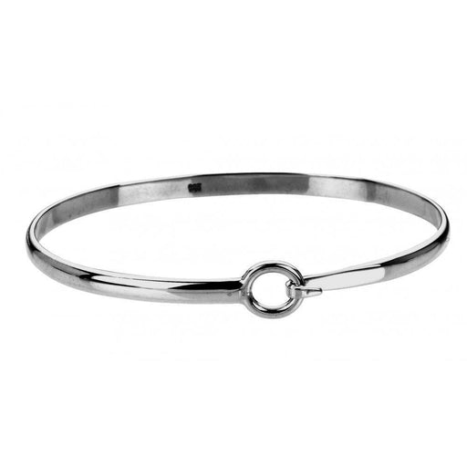 Rock Lobster Bangle Silver hook and hoop plain bangle