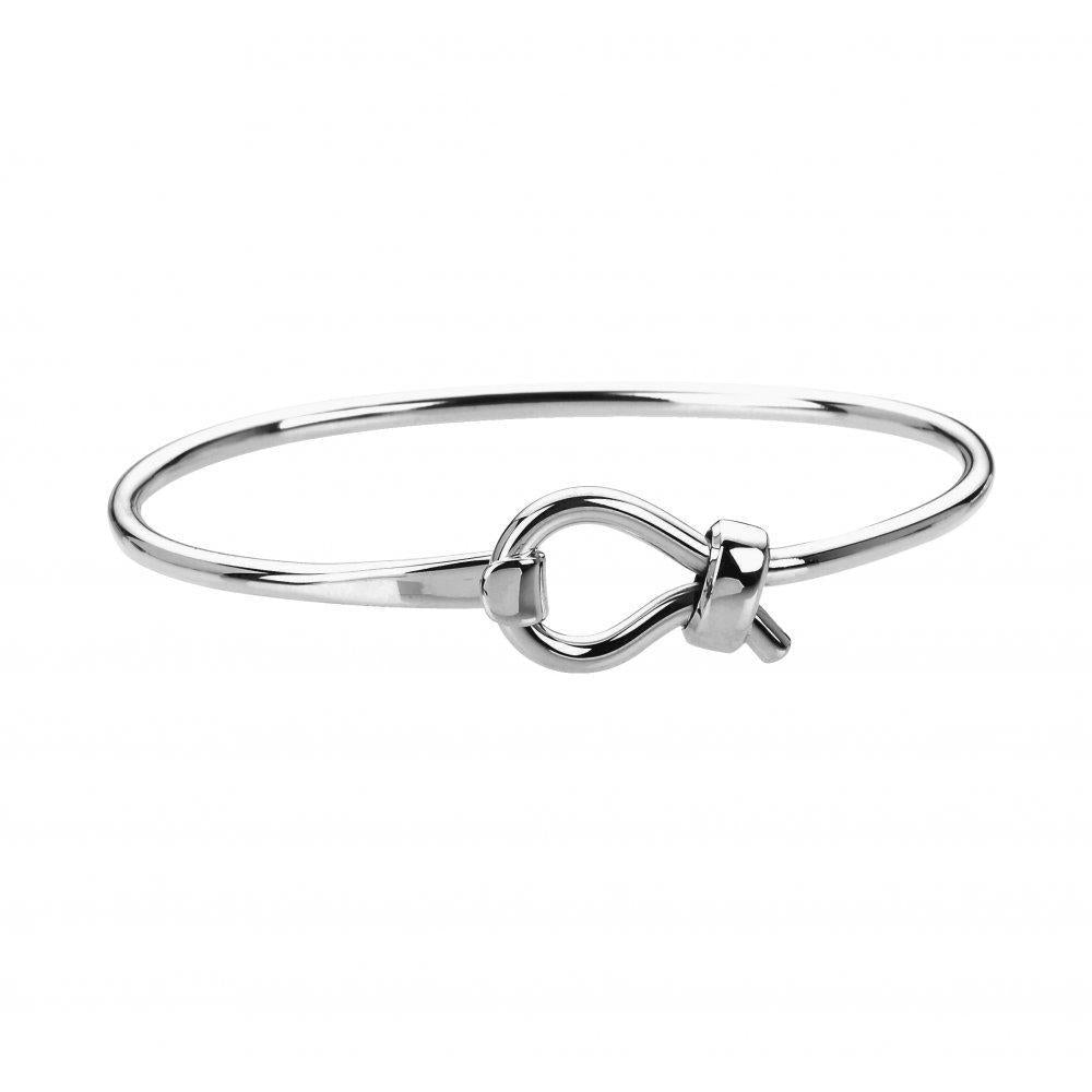 Rock Lobster Bangle Silver loop fastening bangle