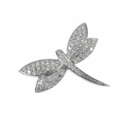 Rock Lobster Brooches Silver stone set dragonfly brooch